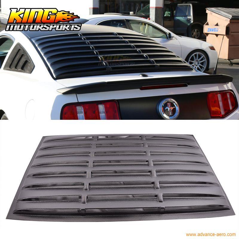 Für 05-14 Ford Mustang Rear Fenster Jalousie Matte Schwarz ABS USA Inlands Kostenloser Versand Heißer Verkauf