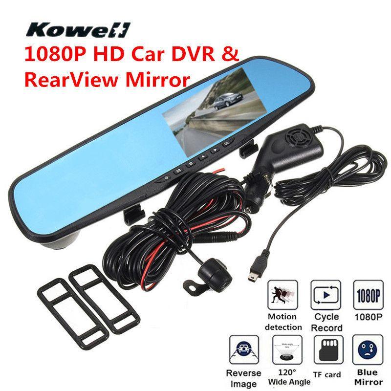 120 Degree 1080P HD Car DVR RearView Mirror Kit Wide Vision Car Front Rear View Camera DVRs Car Mirror Smart Dash Camera ashcam