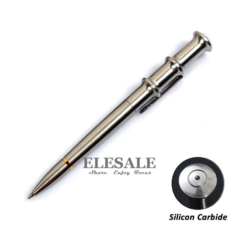 Высокое качество Портативный Нержавеющаясталь тактическая ручка с карбида кремния для Стекло выключатель аварийного EDC инструмент шарик...