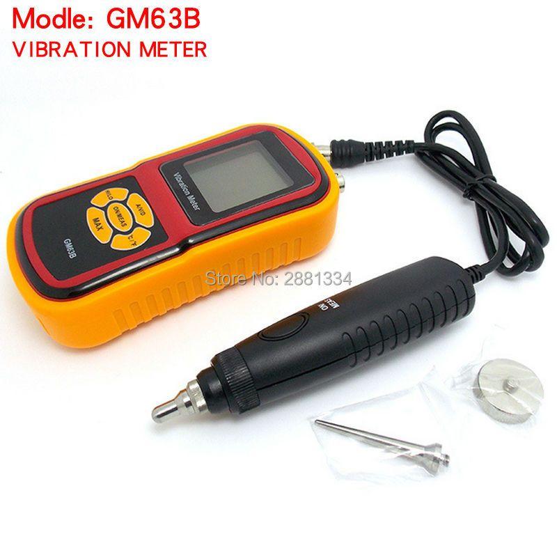 GM63B High Pression Ultrasonic Vibrometer Portable Digital LCD Vibration Meter Analyzer without Retail box