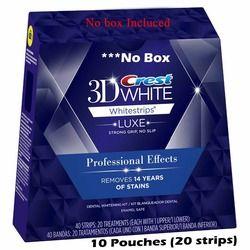Crest Whitestrips 3D Professionnel Effets LUXE 10 Pochettes (20 Bandes) Congé jusqu'à ce que Novembre 11
