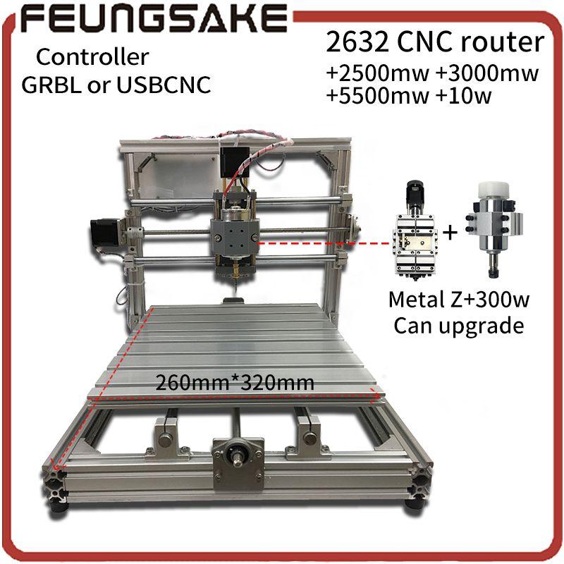 CNC Holz Router, holz cutter 26*32 cm + unterstützung laser gravieren offline GRBL Diy cnc-maschine, USBCNC controller, 3 Achse pcb Mühle maschine