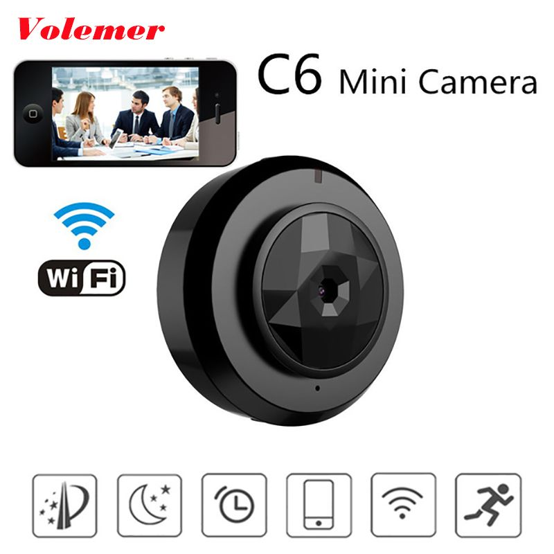 Volemer Camsoy C6 mini camara wifi With Smartphone App Video Recording IP Micro camcorder Motion Dtection P2P Car DVR Mini Cam
