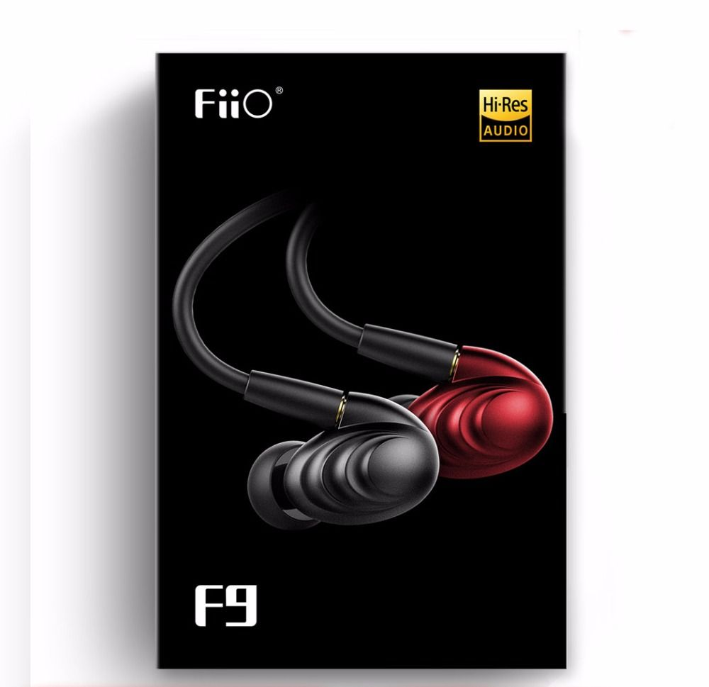 FiiO F9 replacement wire Triple Driver Hybrid Dynamic HIFI earphone in-ear 2.5mm 3.5mm plug with mic Detachable two cables