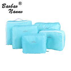 5 Pcs/ensemble De Mode Durable Étanche Polyester Voyage Sacs Pour Hommes Femmes Bagages Sous-Vêtements Vêtements De Tri Sac Emballage Cubes
