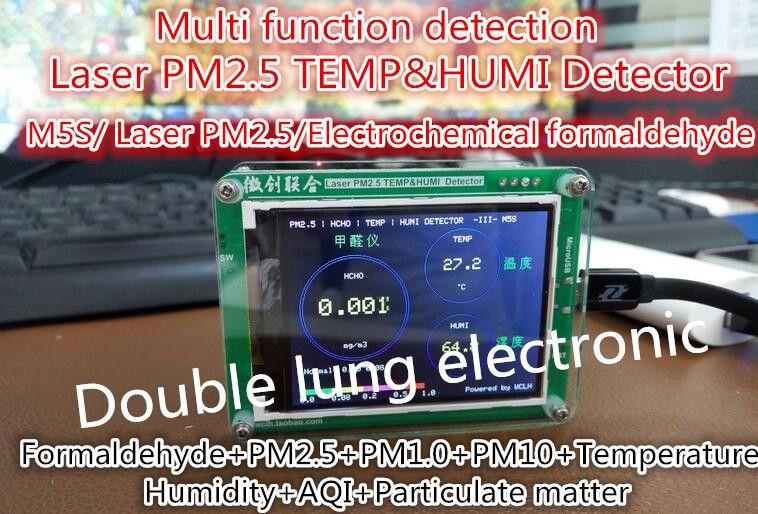 Ménage PM2.5 détecteur détecteur de formaldéhyde air surveillance de la qualité de PM2.5 brume de poussière de mesure capteur TFT LCD (G5S/M5S CAPTEUR)