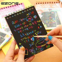 EZONE DIY lindo Kawaii Coil Graffiti página del cuaderno libro de dibujo mágico pintura Bloc de notas para los niños regalo de papelería Bloc