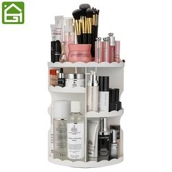 Extra Large Capacité 360 Degrés de Rotation Maquillage Organisateur Réglable Multi-Fonction Cosmétiques Boîte De Rangement