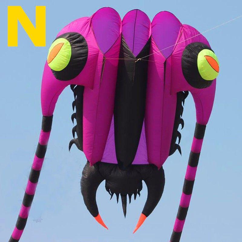 Freies verschiffen hohe qualität 16sqm trilobiten große weiche kite bar nylon ripstop stoff alien aufblasbare kite drachen kite vogel