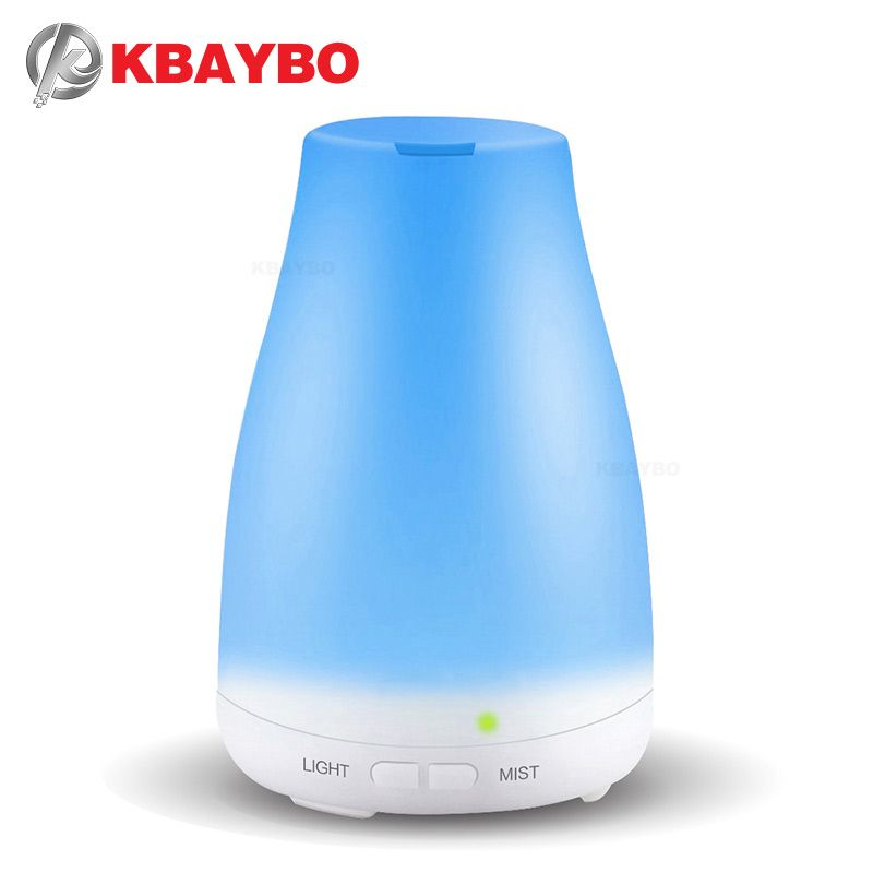 KBAYBO Essential Oil Diffuser, 120ml Aroma Essential Oil Cool Mist Humidifier, 7 Color LED Lights <font><b>Changing</b></font> for Home Office Baby