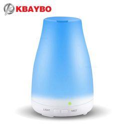 KBAYBO Huile Essentielle Diffuseur, 120 ml Arôme Huile Essentielle Humidificateur à vapeur Froide, 7 Couleur LED Lumières Changeant pour La Maison Bureau Bébé