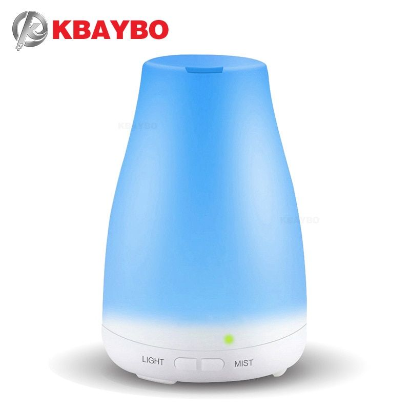 Kbaybo Эфирные масла диффузор, 100 мл Аромат Эфирные масла прохладный туман увлажнитель, 7 цветов светодиодные фонари Изменение для домашнего оф...