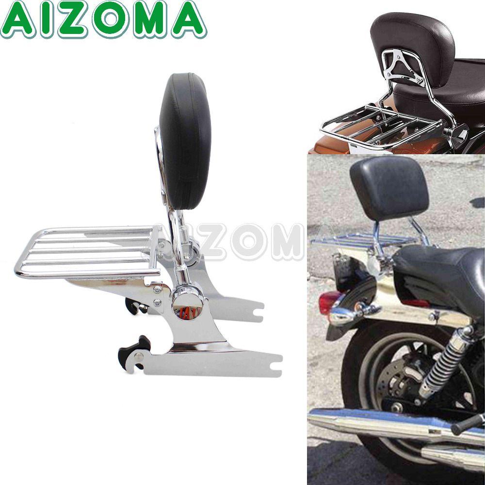 Abnehmbare Verstellbare Sissy Bar Rückenlehne Passagier Gepäck Rack Fit 200mm Hinten Reifen Fender Für Harley Springer Softail FXSTC/ s/B