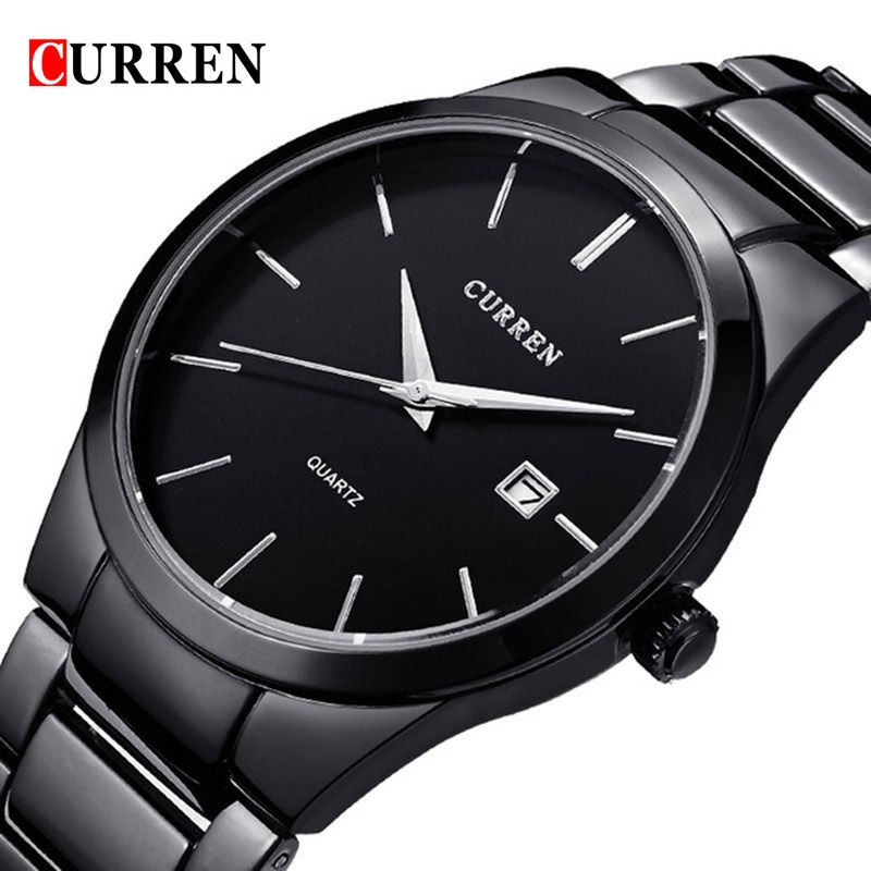 2018 Fashion CURREN Watches Sport Steel Clock Top Quality Military Men's Male Luxury Gift Wrist Quart Watches relogio masculino