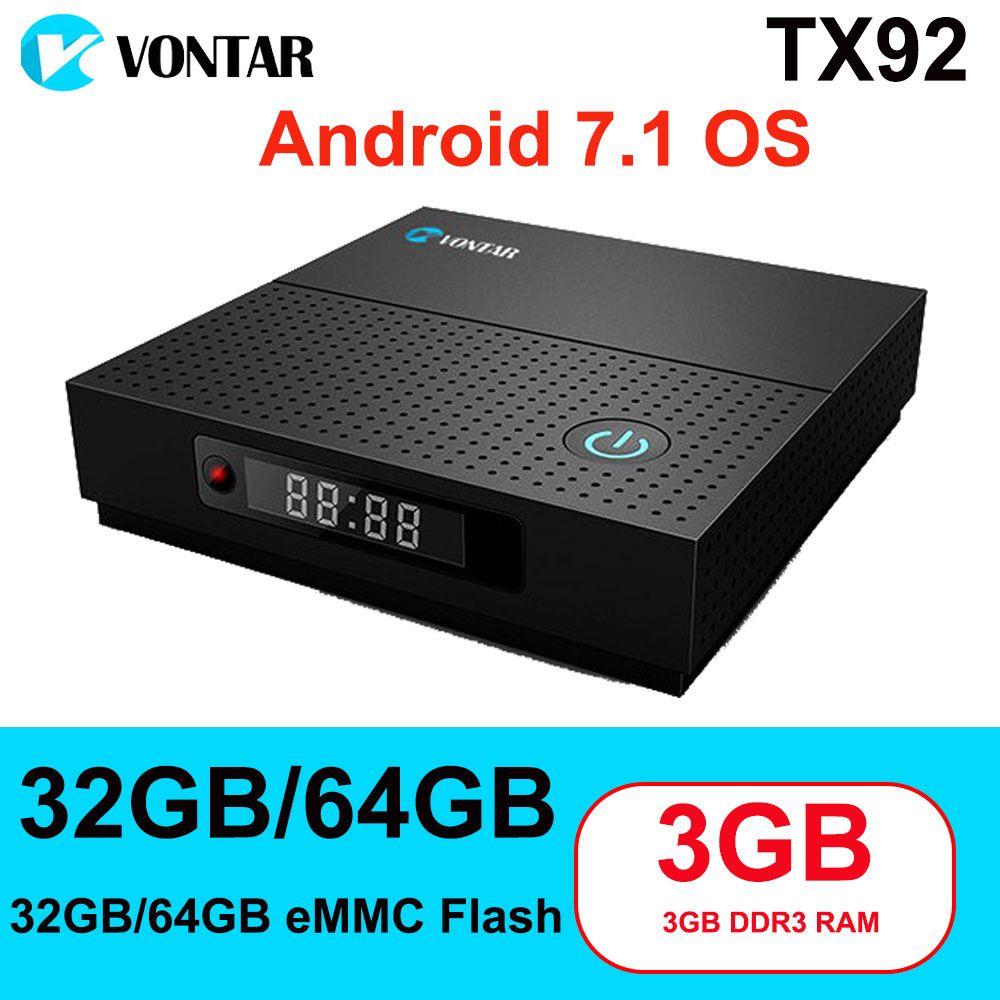 TX92 3GB/64GB 3GB/32GB 2GB/16GB Android 7.1 Smart TV Box Amlogic S912 Octa Core Wifi 4K H.265 Media Player Set Top Box Mi Tanix