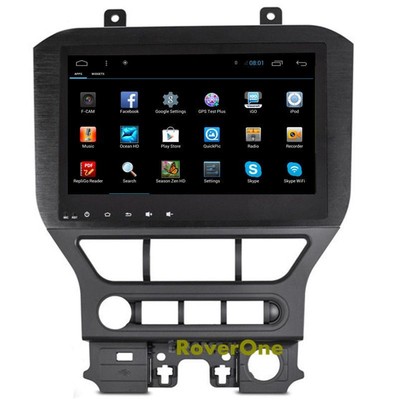 For Ford Mustang 2015 2016 2017 Android 6.0 Autoradio Car Multimedia Media Player GPS Navigation System Bluetooth Mirror Link