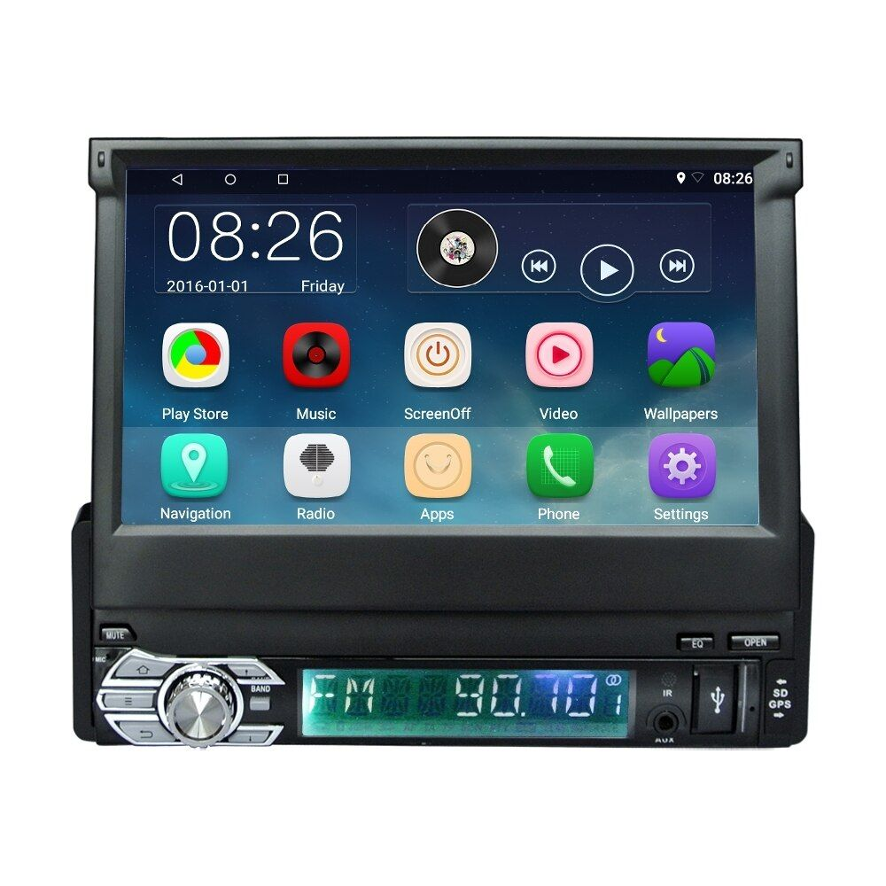 MG CT0008 7 Zoll Auto Radio Stereo Mp5 1 Din Android 6.0 Kapazitiven Touchscreen Universal FM GPS Lenkrad-steuerung