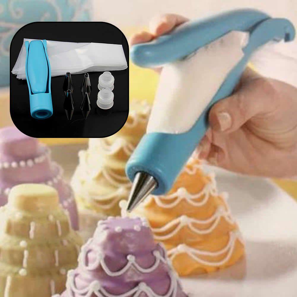 Beste verkauf Düsen Set Werkzeug Nachtisch-dekorateure Kuchen Dekorieren Zuckerglasur-friedliche Sahnespritzenaufsätze Muffin Kuchen Gebäck Federbeutel