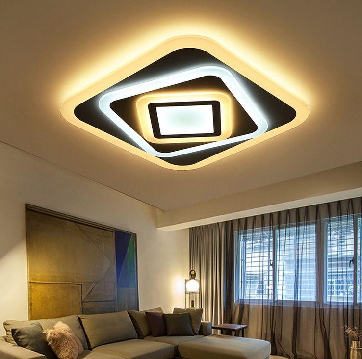 Ultra thin Acryl LED Wohnzimmer Schlafzimmer Balkon Rechteck Führte Deckenleuchten 110/220 V Dekoration Decke lampe Leuchte