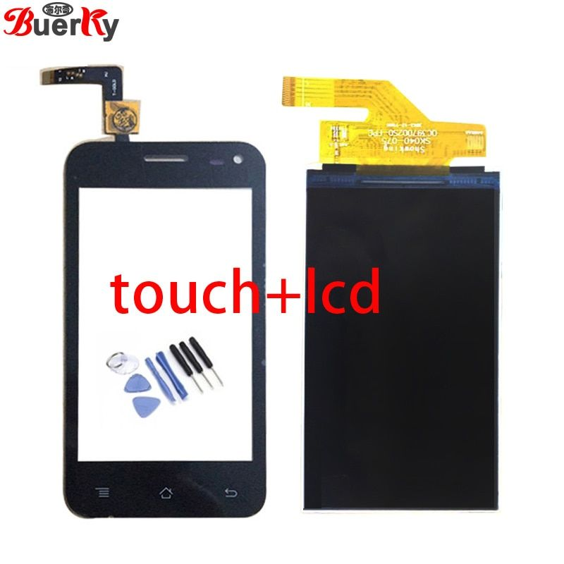 BKparts 1pcs LCD For Micromax Bolt A79 LCD display and touch screen glass digitizer Replacement with tools free shipping