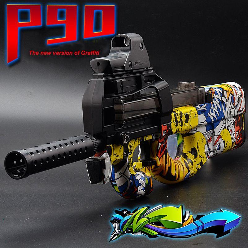 P90 Électrique Jouet Pistolet Paintball CS Live D'assaut Snipe Arme doux Balle de L'eau Pistolet avec bulletsToys Pour Garçon Armes jouet pistolet