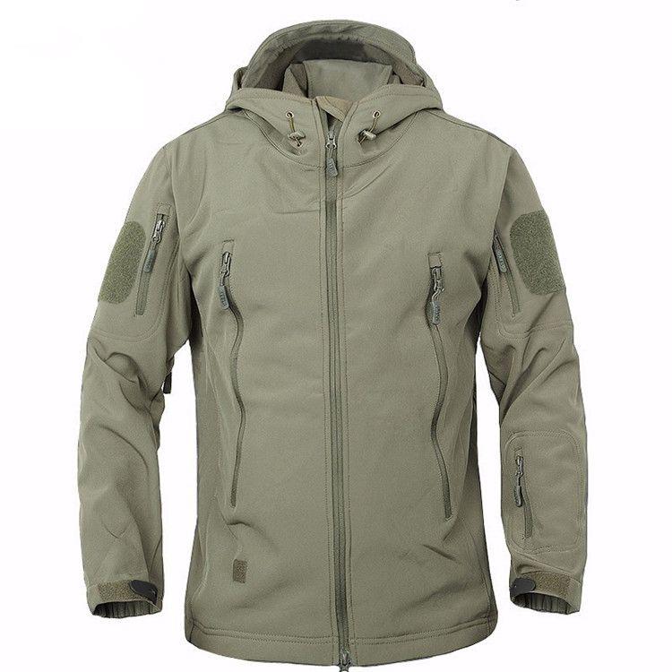 2018 TAD Winter Shark Skin Military Windproof Tactical Softshell Jacket Men Waterproof Army soft shell Coat Windbreaker Rain