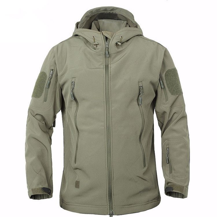 2018 TAD Winter Shark Skin Military Windproof Tactical Softshell Jacket Men Waterproof Army soft shell Coat Windbreaker Rain