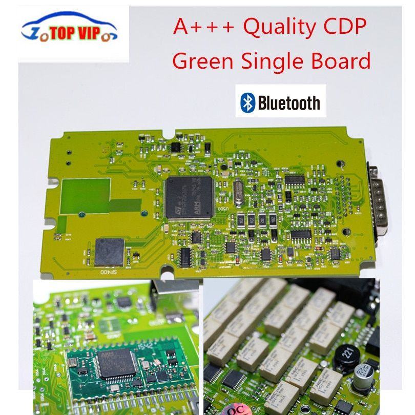Best Quality TCS CDP Pro Newest 2016.00 newest Single Green board CDP with Bluetooth Diagnostic Scanner for cars&Trucks
