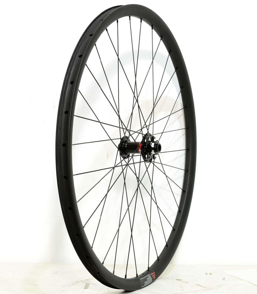 1420g!29ER Asymmetry MTB AM/XC hookless carbon wheels 30mm depth 24mm depth mountain bike super light carbon wheelset