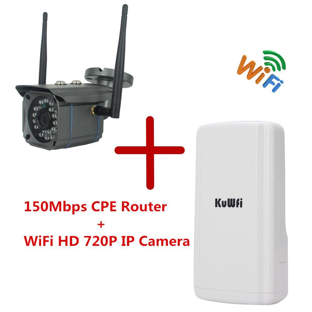 1 Satz CPE Drahtlose WIFI Router WIFI Repeater Und WiFi HD 720 P Ip-kamera Netzwerk Onvif Sicherheit CCTV Wasserdichte AP Brücke Router