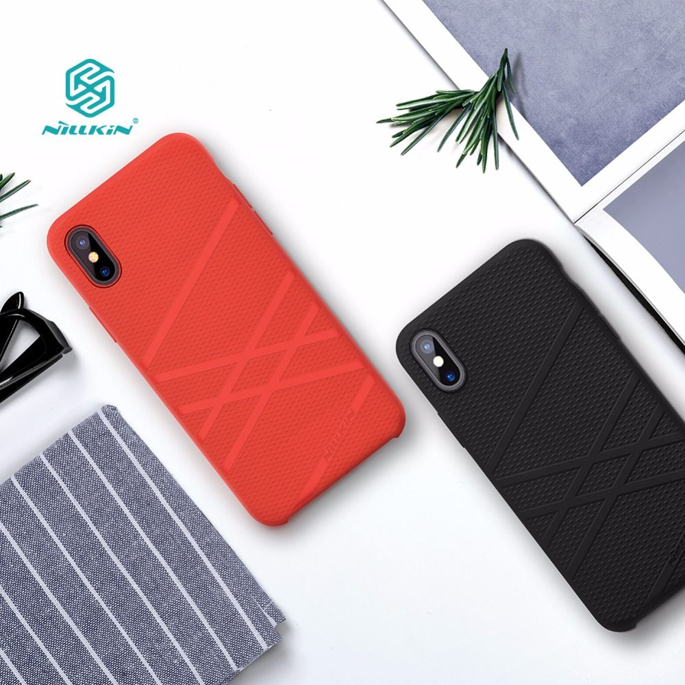 For iphone x funda case cover 5.8 inch Nillkin Liquid <font><b>thin</b></font> silicone protective shell Protector cover for iphone x case luxury