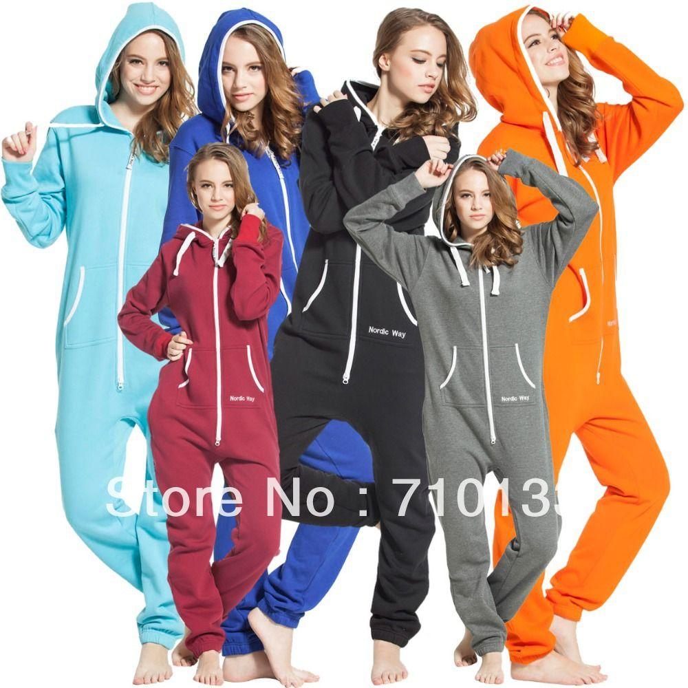 one piece jumpsuit onesies onezie all-in-one unisex unique zip hoody jump in suit kosedress