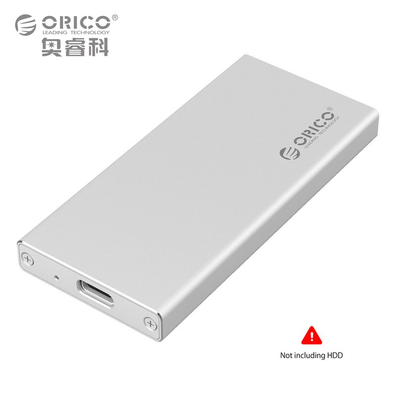 ORICO MSA-UC3 Aluminum Type-C to mSATA 3.0/2.0 Portable Mobile HDD Enclosure Box Case for 1.8  inch SSD  (Not Including HDD)