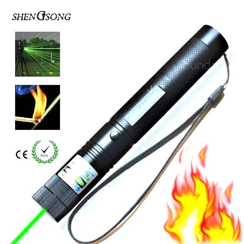 Lunette de visée Laser verte lunette de visée Laser CNC pointeur Laser puissant de mise au point 532nm Laser puissant de chasse SD 303 avec étoile