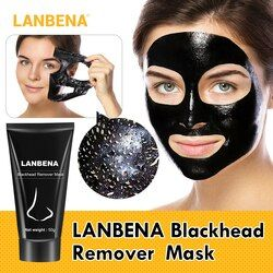 LANBENA Blackhead Remover Nose Black Mask Face Care Mud Acne Treatment Peel off Mask Pore Strip Skin Care Peel Mask