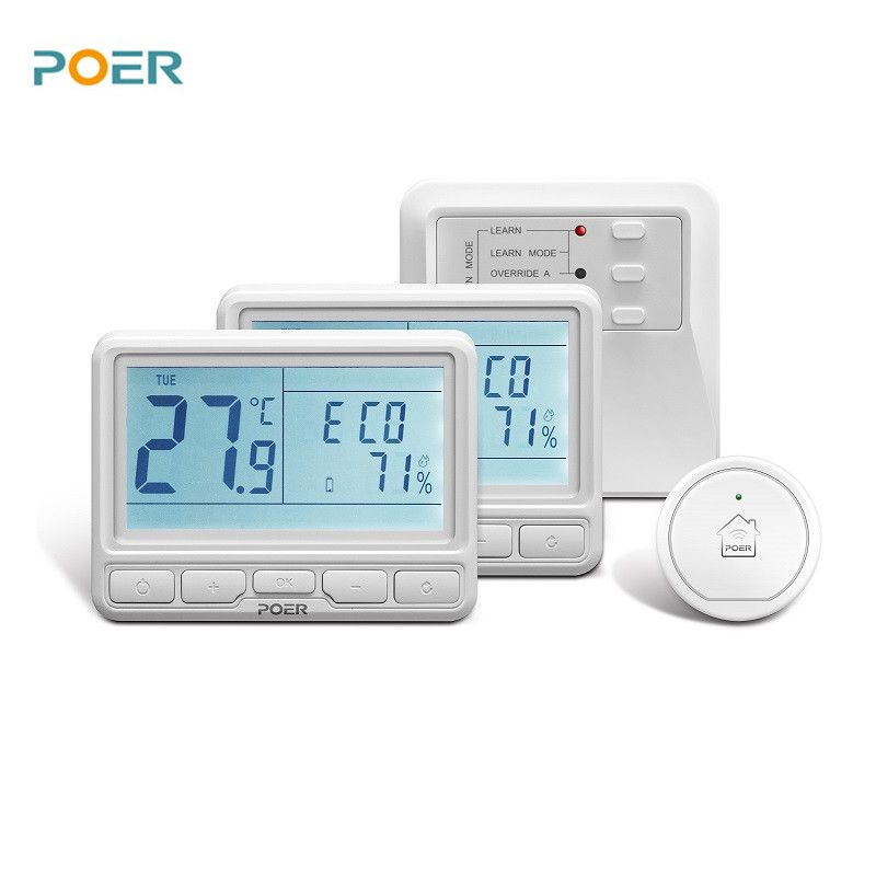 wireless room controller for underfloor heating digital wifi thermostat programmable App remote 2 pcs thermostats