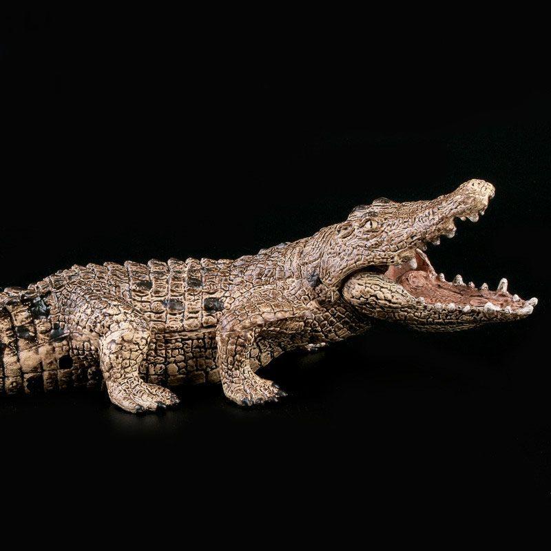 Simulation von Krokodile Feste Modell Alte Krokodil Nil Alligator Modell Cayman Prop Wildlife Wilden Tier Cayman Decor Geschenk