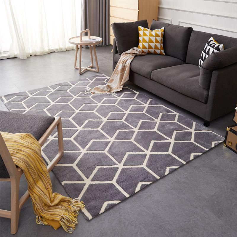 American style geometric pattern carpet ,big size living room carpet, rectangle ground mat , Pastoral home decoration floor mat