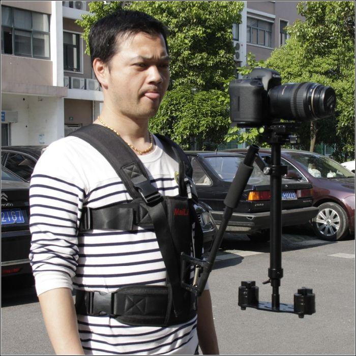 Stabilisateur de caméra vidéo 60 cm s60 luminum pour canon 5d iii dslr steadicam pour caméscope DV DSLR caméra fixe de poche
