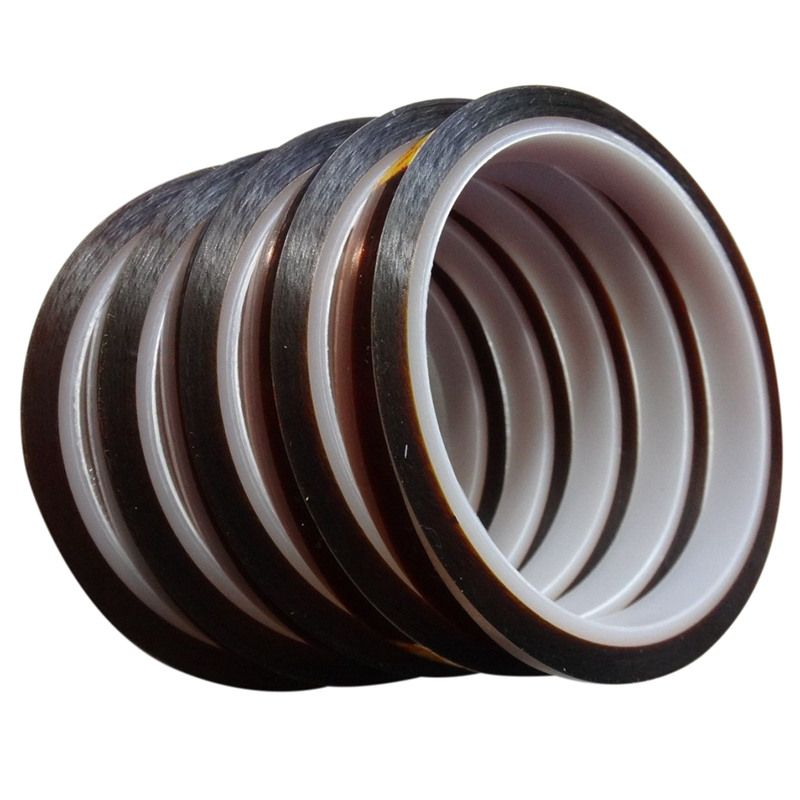 5 Rolls 10mm*33m Heat resistant tape for sublimation Transfer Thermal,brown-color