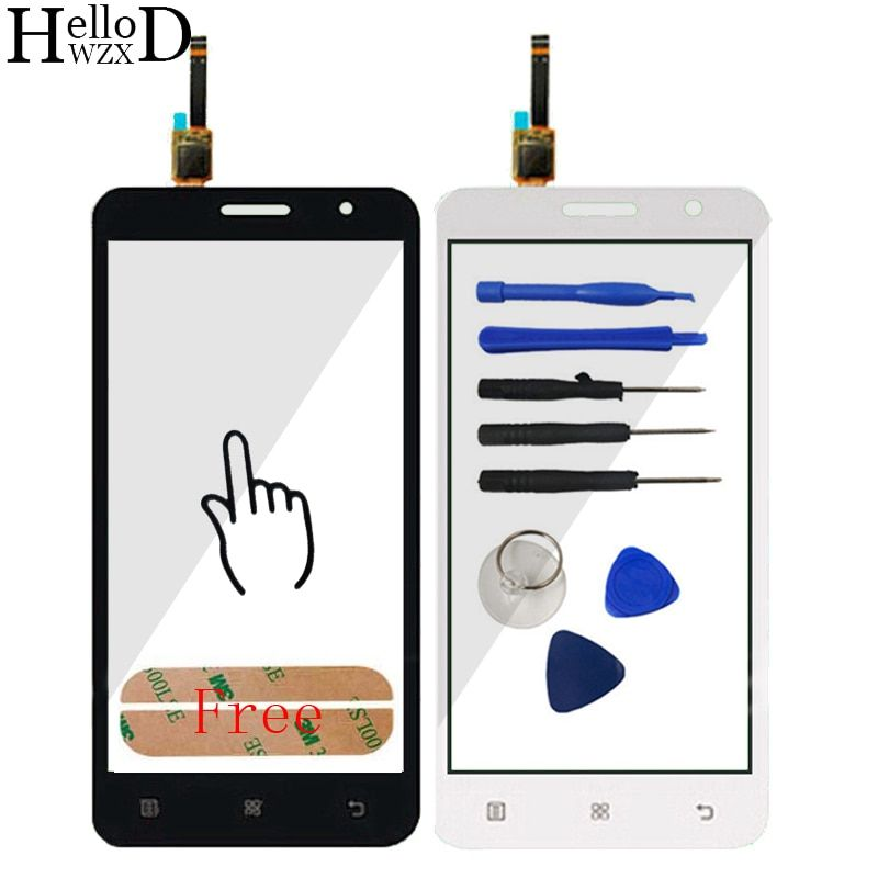 Touch Screen For Lenovo A806 A806T A808 A8 Capacitive Touch Screen Panel Digitizer Panel Front Outer Glass Lens Sensor  Adhesive