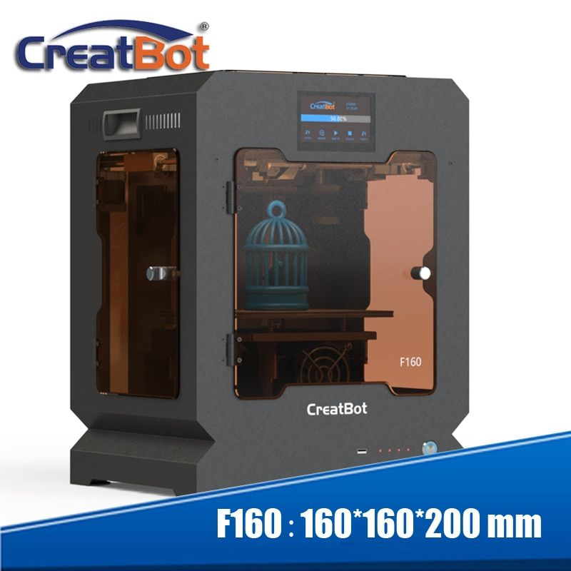 totally enclosed metal framework small build size 160*160*200 mm Creatbot F160 3d printer for school children