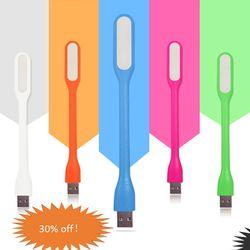 Oobest sílice Gel Multicolor Mini libro luz Lámpara de lectura USB LED light Computer lámpara para Notebook PC portátil lectura