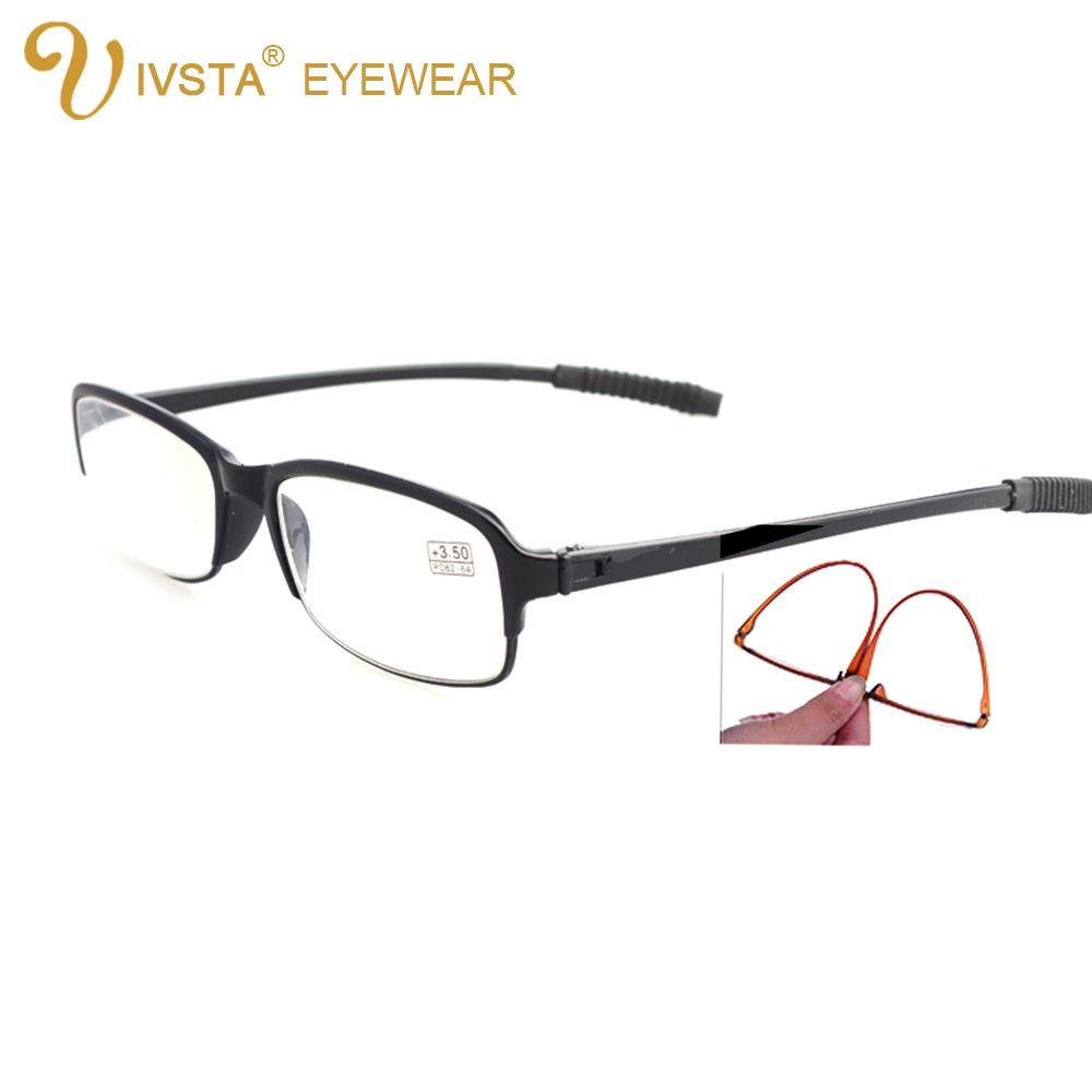 IVSTA lunettes de lecture pour hommes pliables TR90 lentilles en résine Anti-flexion souple pour personnes âgées + 1.00 + 1.5 + 2.0 + 2.5 + 3.0 + 3.5 + 4.0 + 8002 +