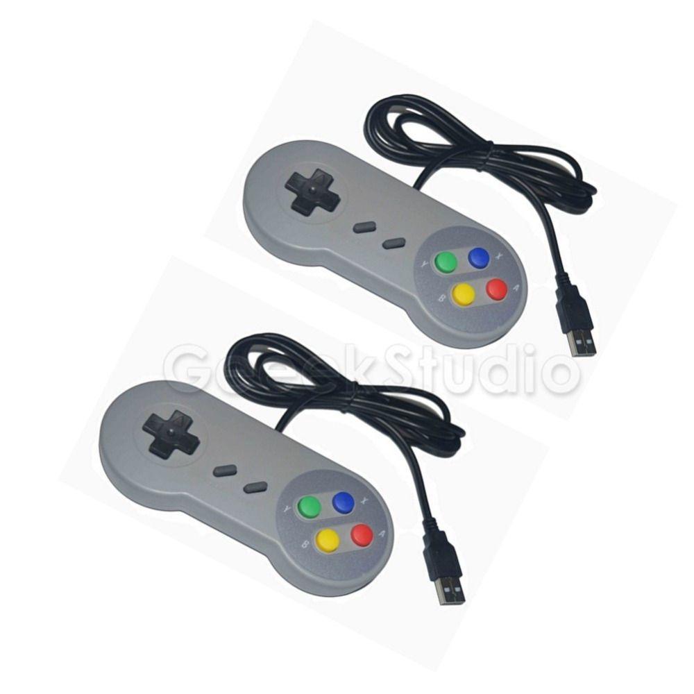 Nave de CN/EE. UU./REINO UNIDO! 2 Unids/lote! SNES USB Game Pad Controller Joypad Joystick para PC Raspberry Pi 3 Modelo B Retropie
