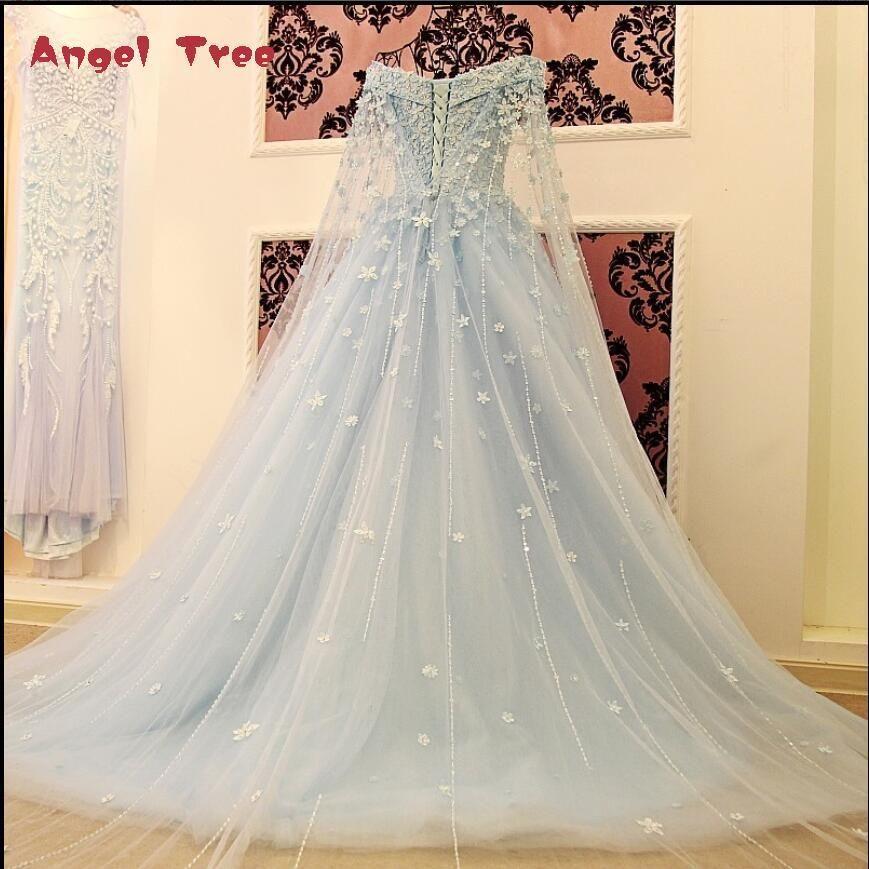 Angel Tree 100 % real picture Custom made Sweetheart Lace Appliques Flowers Wedding Dress 2017 Court Train Vestido De Noiva