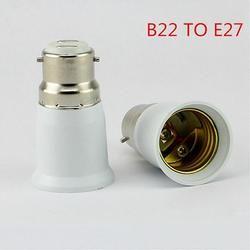 AKDSteel B22 à E27 Lumière Lampe Ampoule Socket Base Convertisseur Edison Vis à Baïonnette Cap Ignifuge Titulaire Adaptateur Convertisseur Socket