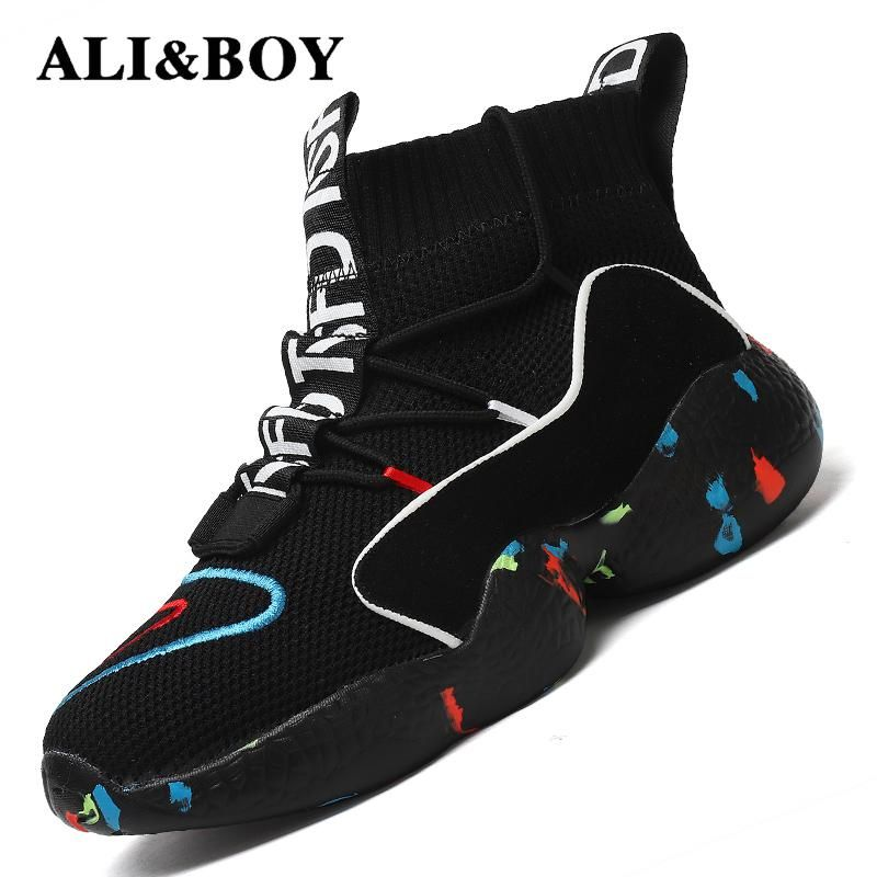 High Top Running Shoes For Men Women Ankle Boots Thermal Winter Shoes Women Men Fur Lining Sport Shoes Athletic Male Sneakers