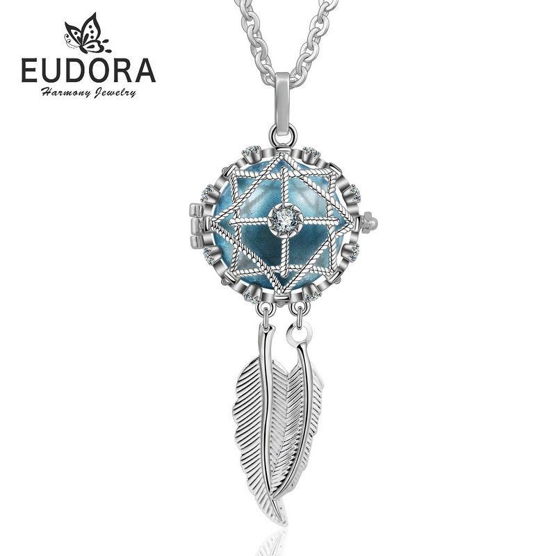 Eudora Harmony Necklce Dreamcatcher Locket Cage Pendant Femme Collier Colgante Floating locket Angel Caller Sounds Ball Jewelry