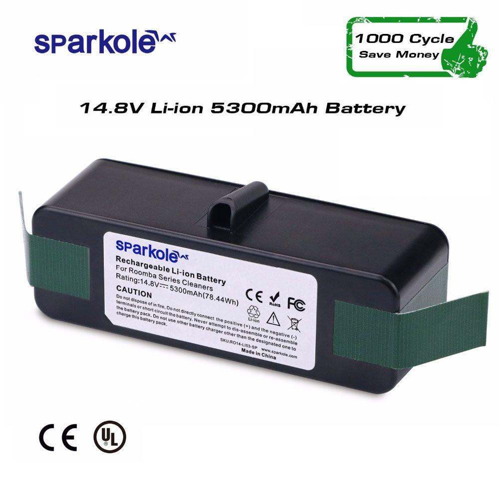 Sparkole 5.3Ah 14.8 V Li-ion Batterie pour iRobot Roomba 500 600 700 800 Série 510 531 550 560 580 620 630 650 760 770 780 870 880